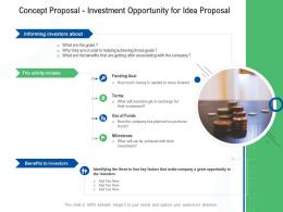 Concept Proposal Investment Opportunity For Idea Proposal Ppt Powerpoint Presentation Styles File