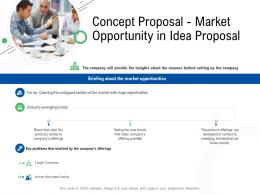 Concept Proposal Market Opportunity In Idea Proposal Ppt Powerpoint Presentation Outline Visuals