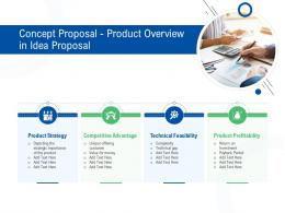 Concept Proposal Product Overview In Idea Proposal Ppt Powerpoint Presentation Gallery Templates