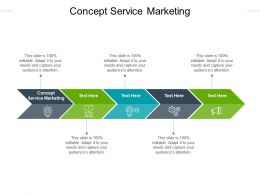 Concept Service Marketing Ppt Powerpoint Presentation Model Slides Cpb