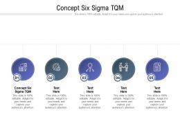 Concept Six Sigma TQM Ppt Powerpoint Presentation Show Smartart Cpb