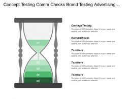 Concept Testing Comm Checks Brand Testing Advertising Testing