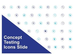 Concept Testing Icons Slide Ppt Powerpoint Presentation Summary Master Slide
