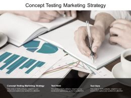 Concept Testing Marketing Strategy Ppt Powerpoint Presentation Gallery Skills Cpb