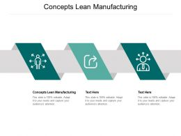 Concepts Lean Manufacturing Ppt Powerpoint Presentation Infographic Template Background Designs Cpb