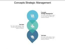 Concepts Strategic Management Ppt Powerpoint Presentation Show Design Inspiration Cpb