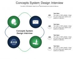 Concepts System Design Interview Ppt Powerpoint Presentation Infographics Objects Cpb