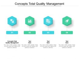 Concepts Total Quality Management Ppt Powerpoint Presentation Infographic Cpb