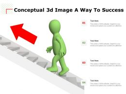 Conceptual 3d Image A Way To Success
