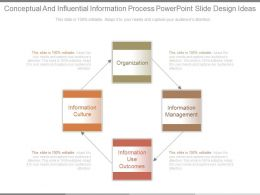Conceptual And Influential Information Process Powerpoint Slide Design Ideas