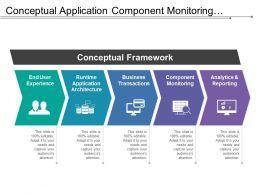 Conceptual Application Component Monitoring Analytics Framework
