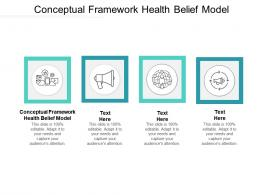 Conceptual Framework Health Belief Model Ppt Powerpoint Presentation Portfolio Design Ideas Cpb