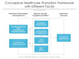 Conceptual Healthcare Promotion Framework With Different Factor