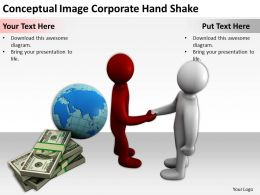 Conceptual Image Corporate Hand Shake Ppt Graphics Icons PowerPoint