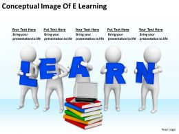 Conceptual Image Of E Learning Ppt Graphics Icons PowerPoint