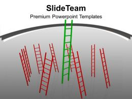 Conceptual Image Of Growth Ladders Success Powerpoint Templates Ppt Themes And Graphics 0113