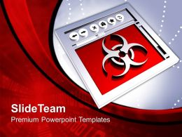 Conceptual Image Of Internet Virus Powerpoint Templates PPT Themes And Graphics 0113