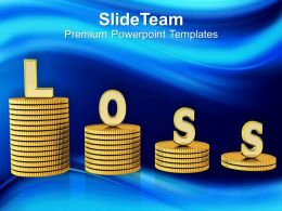 Conceptual Image Of Monetary Loss Powerpoint Templates Ppt Themes And Graphics 0213