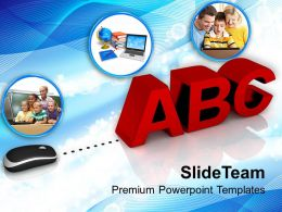 Conceptual Image Of Online Learning PowerPoint Templates PPT Themes And Graphics 0213