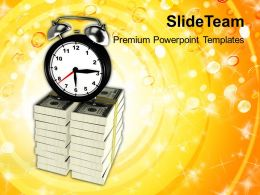 Conceptual Image Of Time Is Money Powerpoint Templates Ppt Themes And Graphics 0213