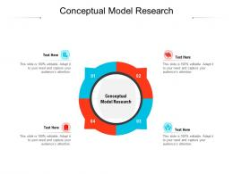Conceptual Model Research Ppt Powerpoint Presentation Infographics Clipart Cpb