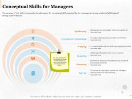 Conceptual Skills For Managers Ppt Powerpoint Presentation File Example