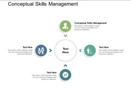 Conceptual Skills Management Ppt Powerpoint Presentation Portfolio Influencers Cpb