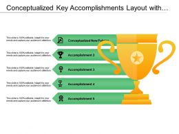 Conceptualized Key Accomplishments Layout With Yellow Trophy