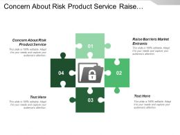 Concern About Risk Product Service Raise Barriers Market Entrants