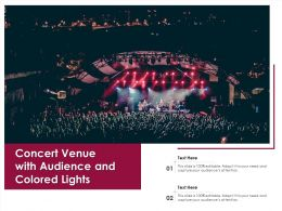 Concert Venue With Audience And Colored Lights