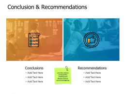 Conclusion And Recommendations A462 Ppt Powerpoint Presentation Diagrams
