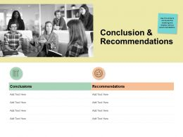 Conclusion And Recommendations Checklist Ppt Powerpoint Presentation Inspiration