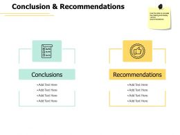 Conclusion And Recommendations Communication Ppt Powerpoint Presentation Slides