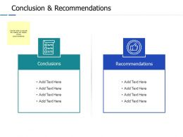 Conclusion And Recommendations Ppt Powerpoint Presentation File Layouts