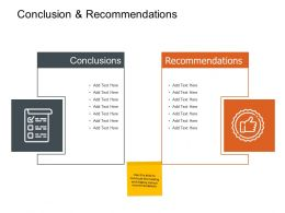 Conclusion And Recommendations Ppt Powerpoint Presentation Icon Outfit