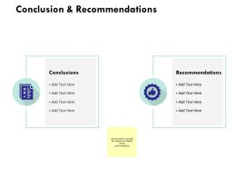 Conclusion And Recommendations Ppt Powerpoint Presentation Infographic
