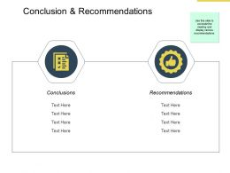 Conclusion And Recommendations Strategy Powerpoint Presentation Gallery Clipart