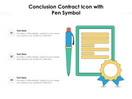 Conclusion Contract Icon With Pen Symbol