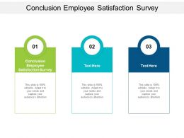Conclusion Employee Satisfaction Survey Ppt Powerpoint Presentation Icon Cpb