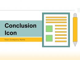 Conclusion Icon Business Arrows Document Ceremonial Presentation