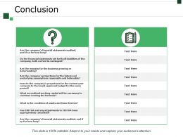 Conclusion Ppt Sample Presentations
