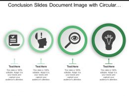 Conclusion Slides Document Image With Circular Text Boxes
