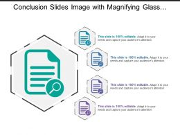 Conclusion Slides Image With Magnifying Glass And Document