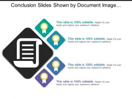 Conclusion Slides Shown By Document Image And Medal Image