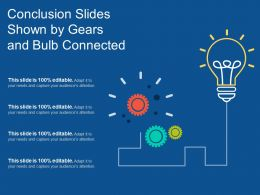 Conclusion Slides Shown By Gears And Bulb Connected