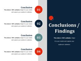 Conclusions Findings Ppt Slides Rules