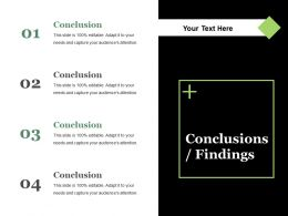 Conclusions Findings Ppt Summary Layout Ideas
