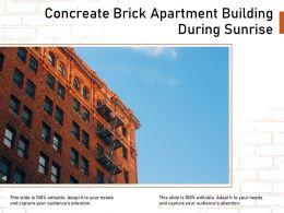 Concreate Brick Apartment Building During Sunrise