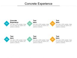 Concrete Experience Ppt Powerpoint Presentation Inspiration Good Cpb