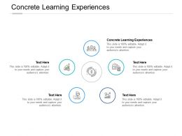 Concrete Learning Experiences Ppt Powerpoint Presentation Summary Maker Cpb